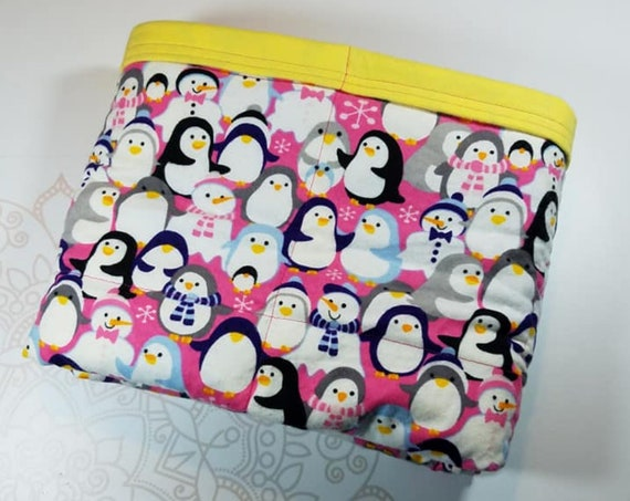 Ready To Ship, Penguins, 7 Pound, WEIGHTED BLANKET, Ready To Ship, 7 pounds, 40x42, for Autism, Sensory, ADHD, Calming