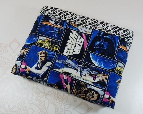 Ready To Ship, Movie, Logo Flannel Backing, 9 Pound, WEIGHTED BLANKET, Ready To Ship, 9 pounds, 38x42 for Autism, Sensory