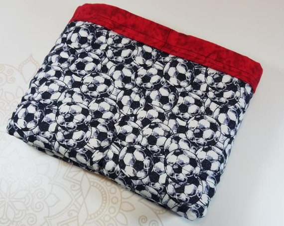 Ready To Ship, 40X42, Soccer, 7 Pound, WEIGHTED BLANKET, Ready To Ship, 7 pounds, 40x42, for Autism, Sensory, ADHD, Calming