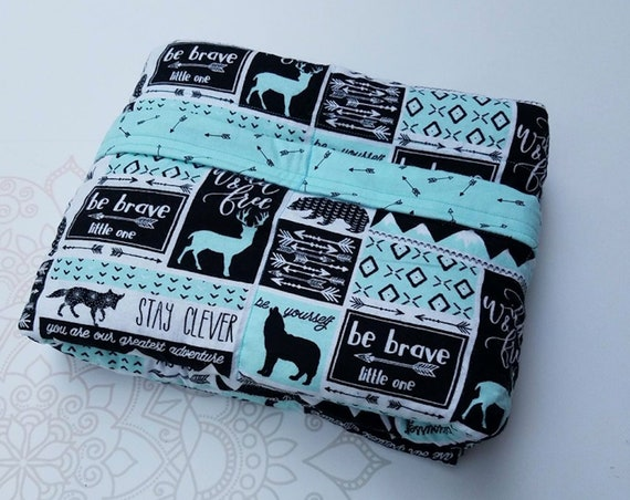 Mint Wildlife, Weighted Blanket, Cotton Flannel, Up to Twin Size, 3 to 20 Pounds, Adult Weighted Blanket, SPD, Autism, Calming Blanket