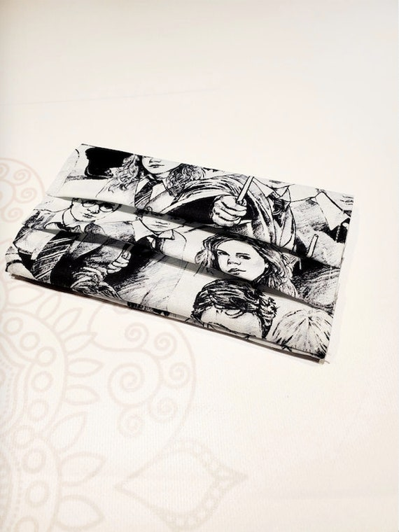 Face Mask COVER, For Ear Looped Masks, Movie Print, For Adult Size Masks, Washable Mask Cover