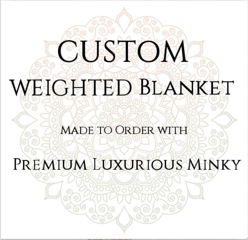 Custom Weighted Blanket Minky Weighted Blanket Up to Twin image 0
