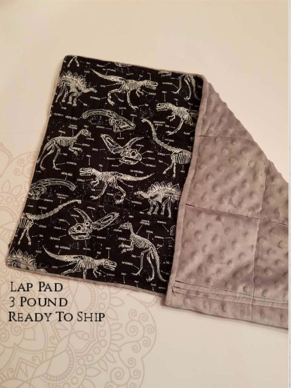 READY TO SHIP, Lap Pad/Small Blanket, 3 pounds,  14x22, autism, anxiety, calming, spd, ptsd, school pad, Small Weighted Blanket