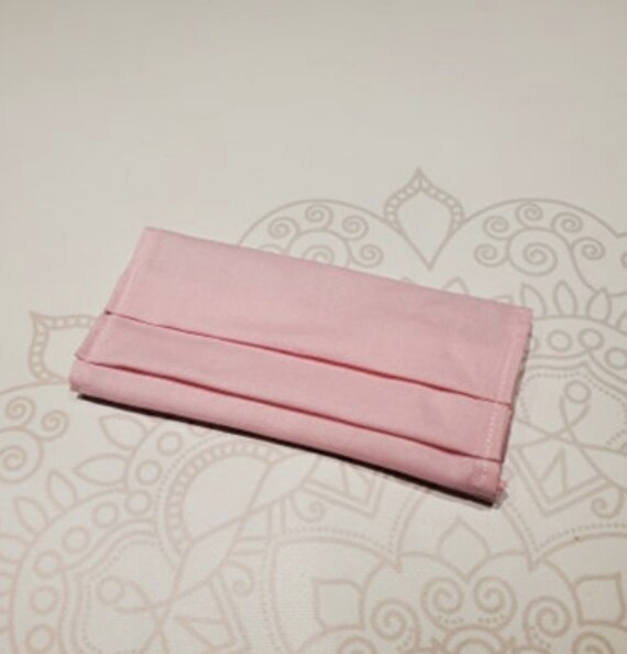 Solid Pink Mask COVER, For Ear Looped Masks, Washable Mask Cover