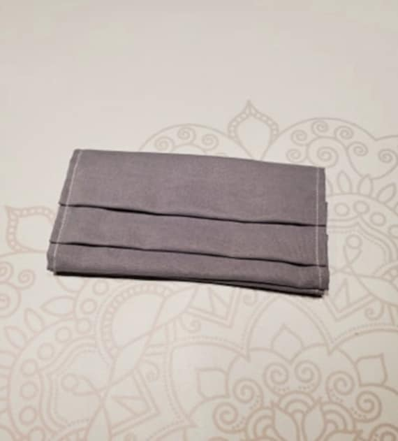 READY to SHIP, Solid Grey Mask Cover, For Ear Looped Masks, Washable Mask Cover