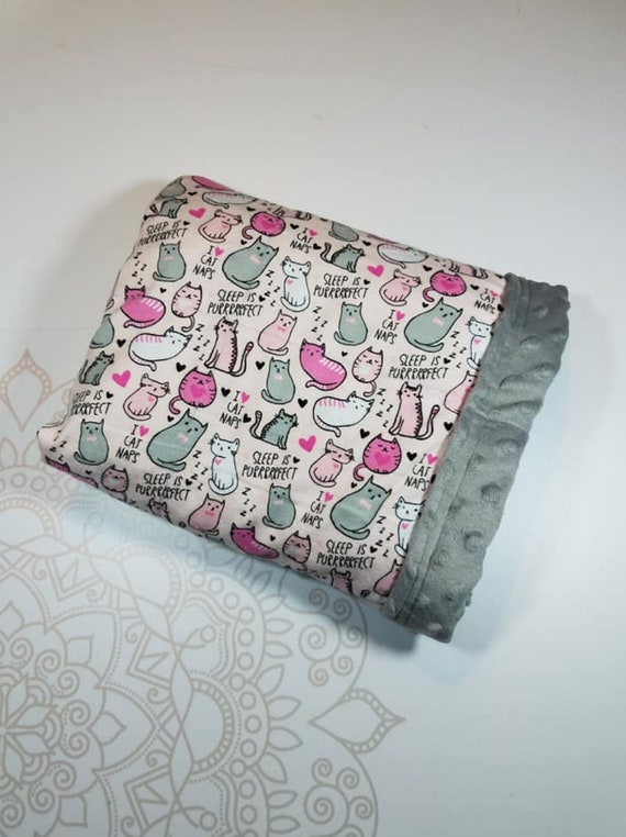 Ready To Ship, 5 Pound, 28x32, Gray Minky, WEIGHTED BLANKET, Ready To Ship, 5 pounds, 28x32 for Autism, Sensory, ADHD, Calming, Anxiety,