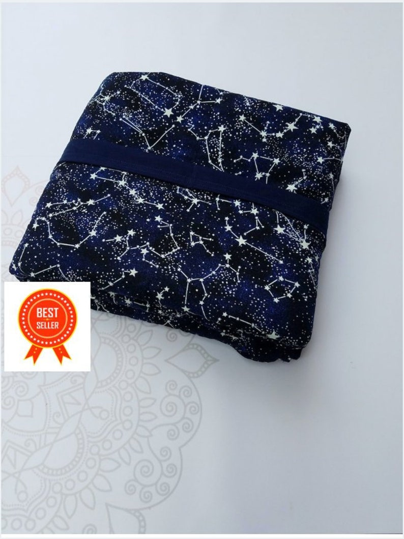 Constellation Glow In The Dark Weighted Blanket Cotton Up image 0
