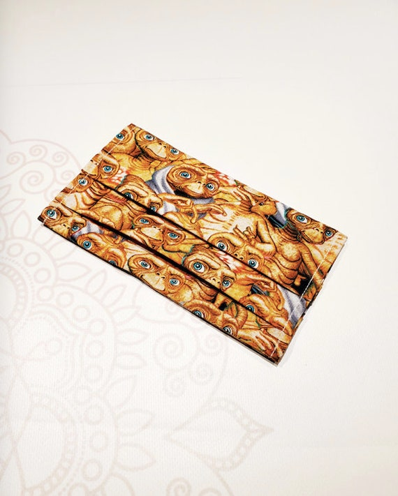 Face Mask COVER, For Ear Looped Masks,  E.T. Print, For Adult Size Masks, Washable Mask Cover
