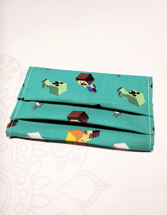 Face Mask COVER, For Ear Looped Masks, Gaming Print, For Adult Size Masks, Washable Mask Cover