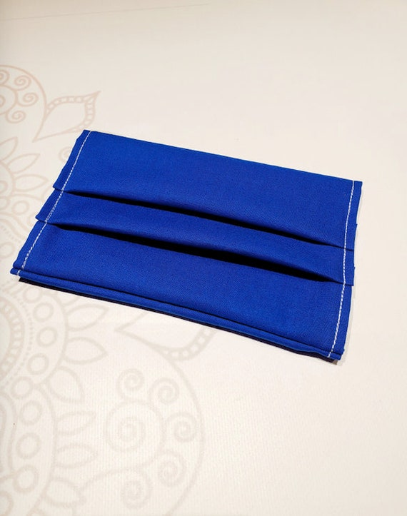 Face Mask COVER, For Ear Looped Masks, Washable Mask Cover, Solid Royal Blue Color