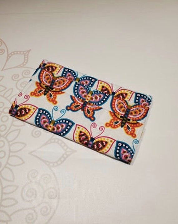 READY to SHIP, Medical Face Mask COVER, For Ear Looped Masks, Washable Mask Cover, Butterfly, Cotton Flannel Fabric