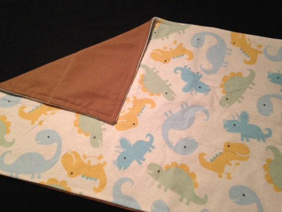Washable Weighted Lap Pad/Small Blanket/Travel Weighted Blanket 3 pounds.  14.5x22 Ready to Ship Dinosaur Theme