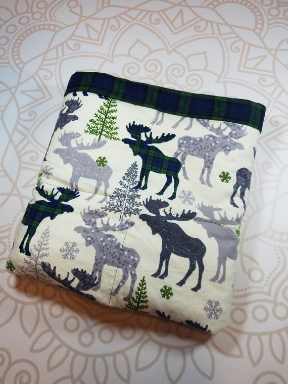 Ready To Ship, 40X42, Moose, 9 Pound, WEIGHTED BLANKET, Ready To Ship, 9 pounds, 40x42, for Autism, Sensory, ADHD, Calming