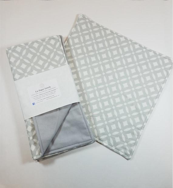 4 Reusable UnPaper Towels, Eco Friendly, Neutral Color, Kitchen Essential