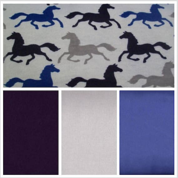 Running Horses Weighted Blanket, Cotton Flannel, Up to Twin Size, 3 to 20 Pounds, Adult Weighted Blanket, SPD, Autism, Calming Blanket