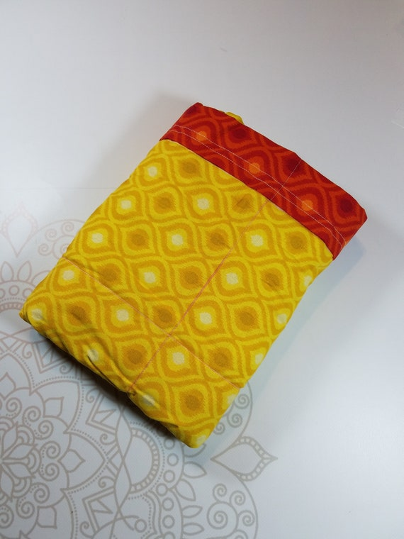 Ready To Ship, 5 Pound, Red Yellow Moroccan, 5 Pounds, WEIGHTED BLANKET, 5 pounds, 28x32 for Autism, Sensory, ADHD, Calming, Anxiety,