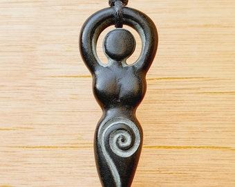 Carved 100/% Natural Rose Quartz Goddess Pendant Bead 50x22x18mm 24g A-351DP