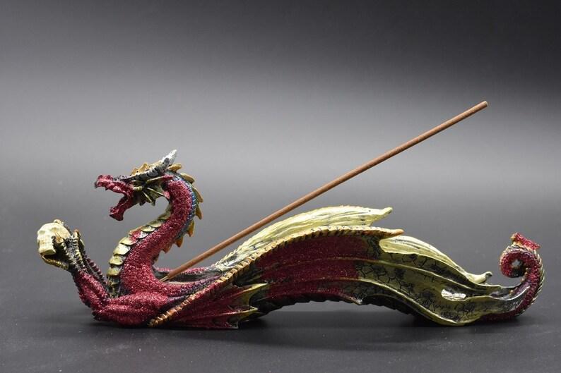 Incense Holder Dragon with Skull