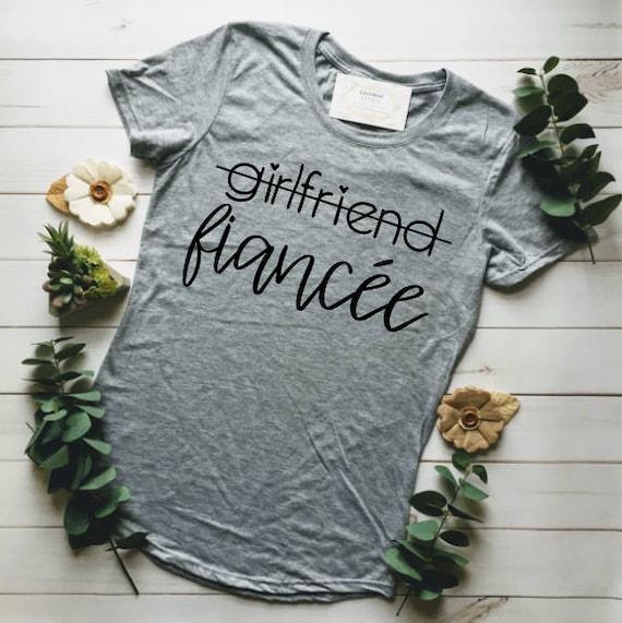 3e122e9c FIANCE SHIRT ENGAGED Af Fiance Girlfriend Fiance Shirt | Etsy
