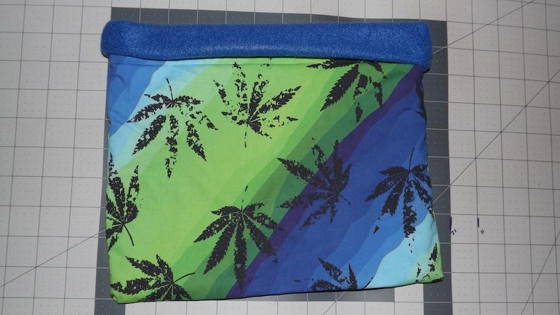 Hedgehogs snuggle sack handshedgehogs Reversible Fleece Cotton Marijuana Blue Purple stripped greenn Item #5