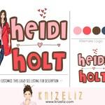 Premade logo design, chic Logo design, feminine logo , blogger logo, lifestyle blogger, girly logo, vlogger logo, influencer logo, elegant