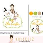 Premade logo design, chic Logo design, feminine logo, elegant logo, logo design, blogger logo, crafter logo, fun logo, crafter blogger logo