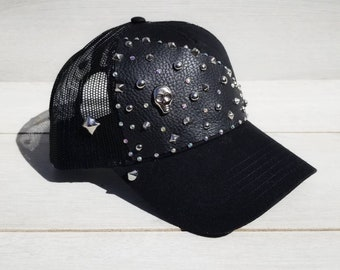 391a72439d9 Skulls and Spikes Couture Snapback Hat Ball Cap