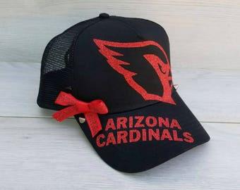 Arizona Cardinals Sparkle Glitter Football Hat Cap cead23ca636f