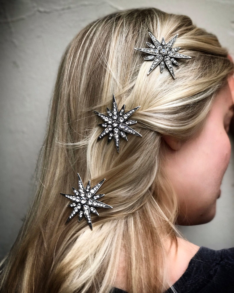 Crystal Star Hair Clip Barrette  Linx image 0