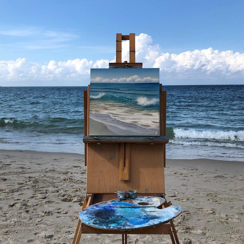 Calling Me  Original Plein Air Beach Oil Painting from image 0