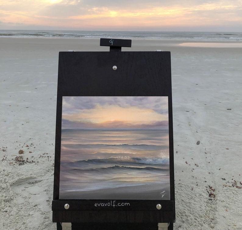 Inner Peace  Plein Air Sunrise on the Beach Painting image 0