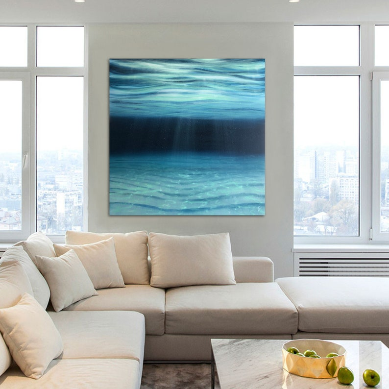 Timelessness  Large Original Underwater Oil Painting on image 0