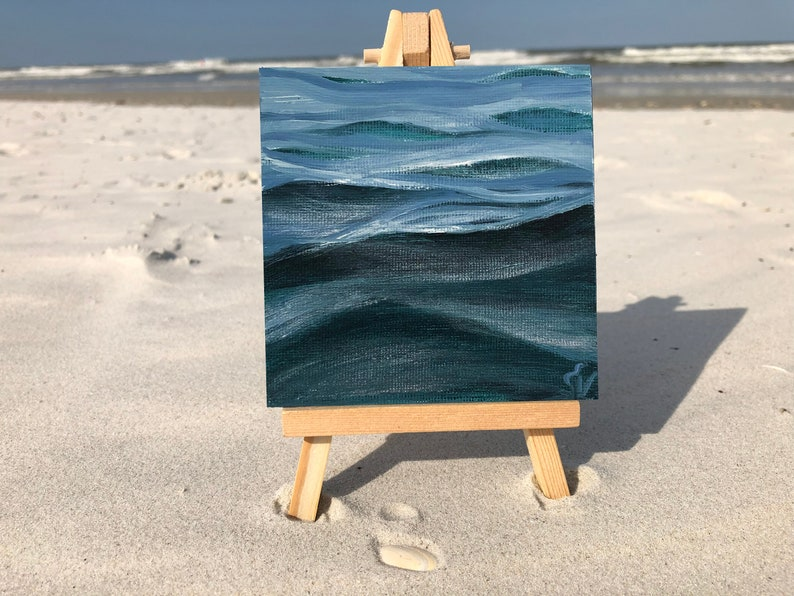 Thirty Waves Of Summer 5  Small Original Wave Oil Painting image 0