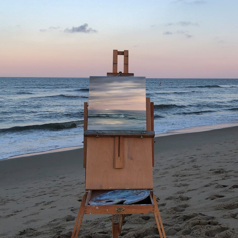 Evening On The Coast  Plein Air Sunset on the Beach Painting image 0