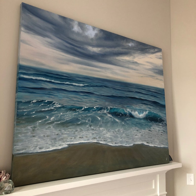 Beginnings  Extra Large Original Contemporary Seascape Oil image 0