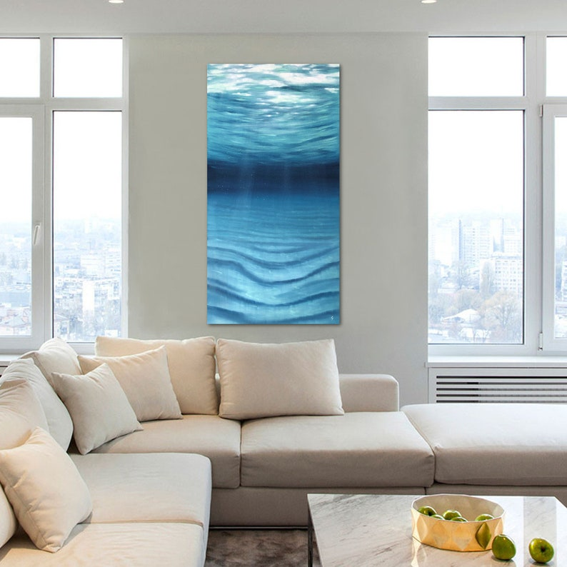The Silence   Extra Large Original Underwater Oil Painting on image 0