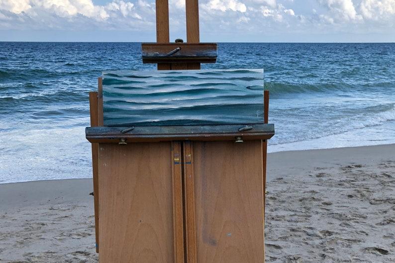 Silver Afternoon  Original Plein Air Ocean Waves Oil Painting image 0