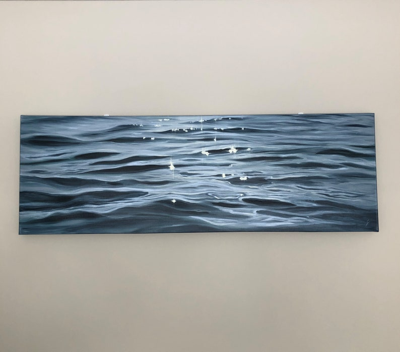 Eternity  Large Original Contemporary Seascape Painting by image 0