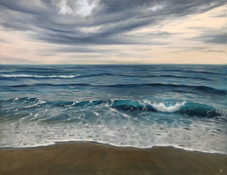 Beginnings  Extra Large Original Contemporary Seascape Oil image 0