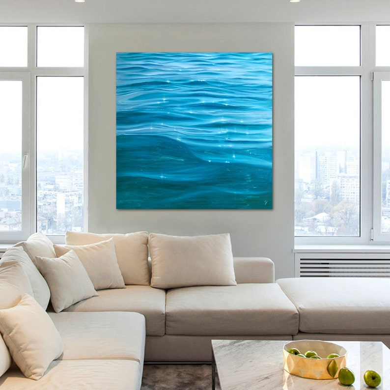 Tranquil Waters  Large Original Clear Water Oil Painting on image 0