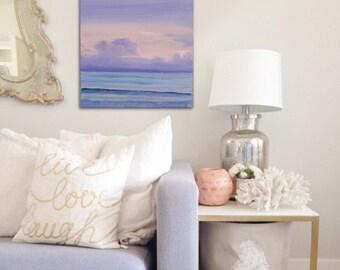 Ocean Sunset Painting, Seascape, Coastal Landscape, Water, Fine Art, Original Beach Oil Painting, Reminiscence