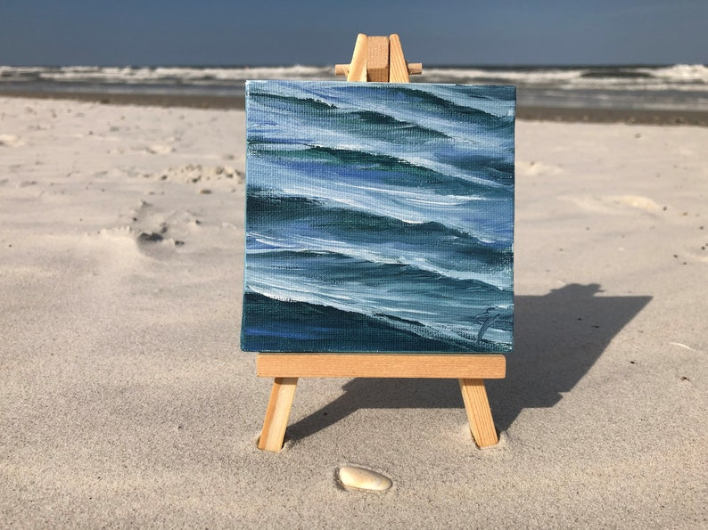 Thirty Waves Of Summer XVII  Original Mini Ocean Oil image 0