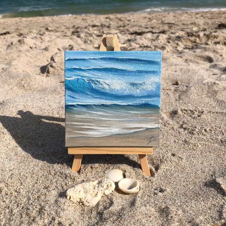 Thirty Waves Of Summer XV  Small Original Wave Oil Painting image 0