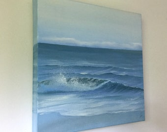 Vero Surf - Original Seascape Oil Painting on Canvas by Eva Volf