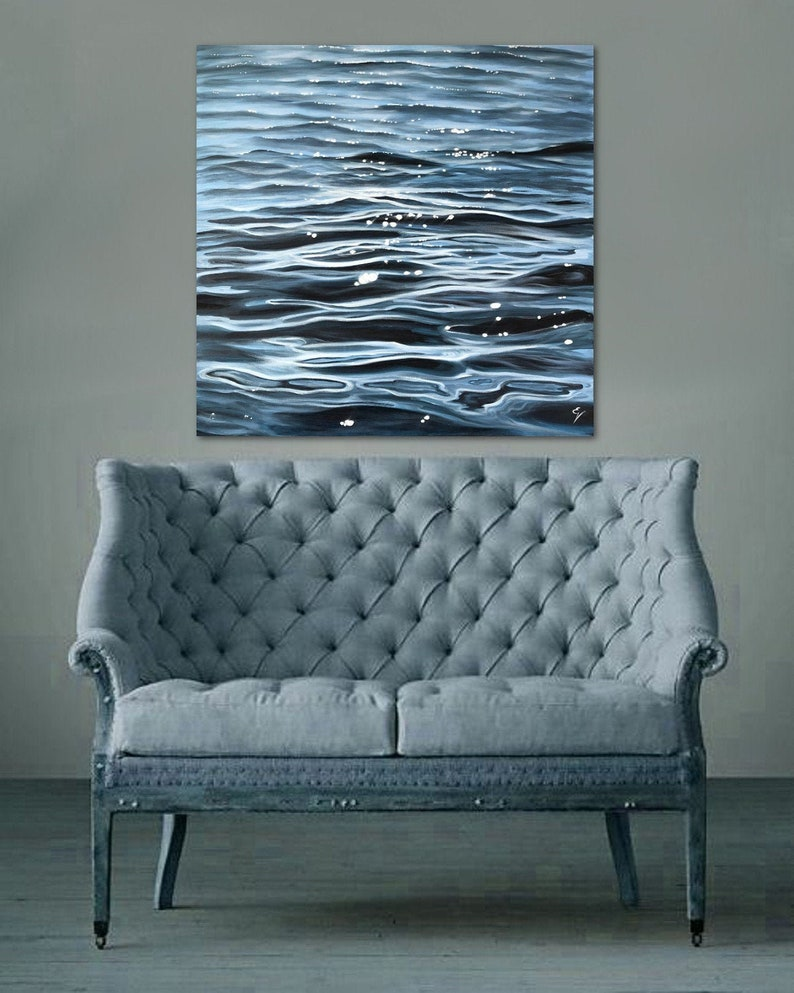 The Flow  Large Original Contemporary Seascape Painting by image 0