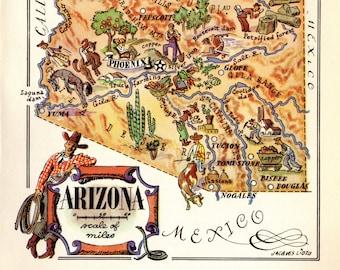 Arizona map | Etsy