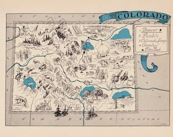Colorado Map Art.Colorado Map Art Etsy