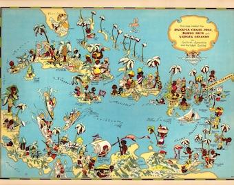 graphic regarding Printable Map of Puerto Rico known as Puerto rico map Etsy