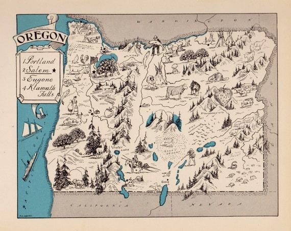 30's Vintage OREGON State Map Animated Cartoon Map of Oregon State on aerial view of oregon state, printable map of washington state, google maps of oregon state, printable map of oregon counties, printable map of ny state, printable map of kentucky state, topographical map of oregon state, printable blank maps oregon, geography of oregon state, home of oregon state, printable map of oregon zip code, interactive map of oregon state, printable map of salem oregon, printable map of southern oregon, printable map of new york state, wildlife of oregon state,