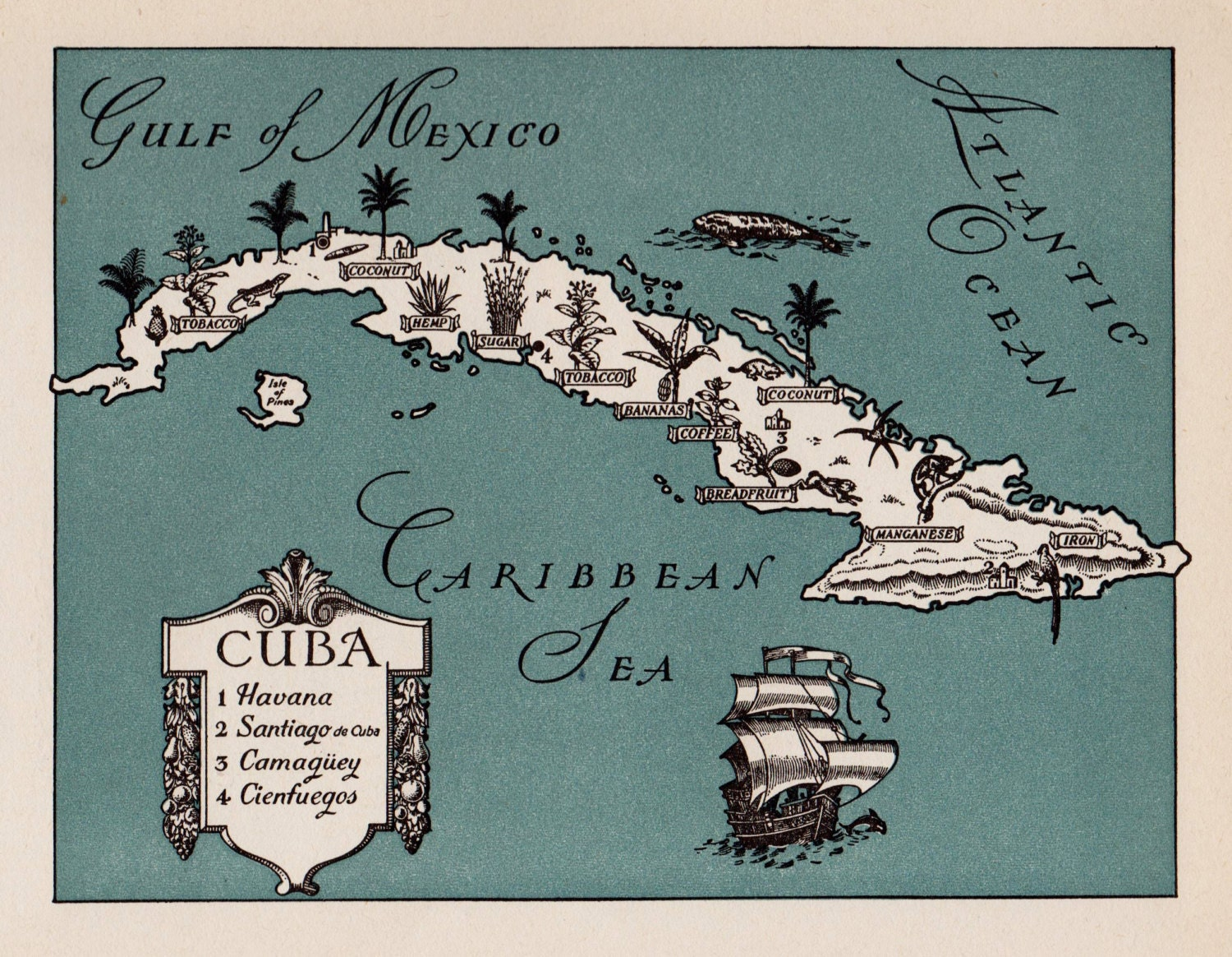 It is an image of Challenger Printable Map of Cuba